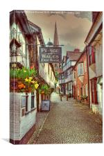 Ledbury, Church Lane, Canvas Print