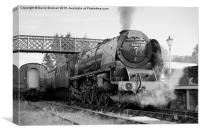 The Royal Scot in Black and White , Canvas Print