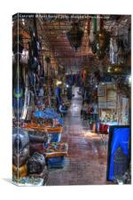 Moroccan Souk in Marrakech, Canvas Print