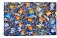 Lobster Pots on Quayside, Canvas Print