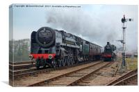 70013 and 46521 at Swithland sidings, Canvas Print