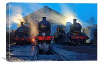 Evening at Great Central Railway, Loughborough, Canvas Print