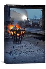 The steam shed yard., Canvas Print