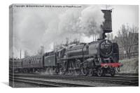 70013 Oliver Cromwell departing Loughborough, Canvas Print
