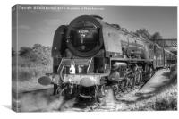 46233 Duchess Of Sutherland at Butterley., Canvas Print