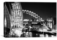The Sage and Tyne Bridge, Newcastle, Canvas Print