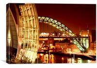 The Sage and Tyne Bridge, Newcastle, Canvas Print