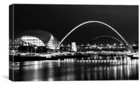 The Sage, Millennium and Tyne Bridge, Canvas Print