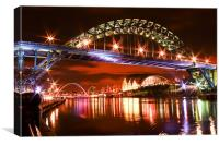 Newcastle and Gateshead Quayside, Canvas Print
