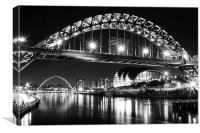 Mono Newcastle Gateshead Quayside, Canvas Print