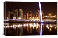 Millennium Bridge and Baltic Flour Mill, Canvas Print