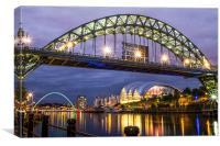 Newcastle Gateshead Quayside, Canvas Print