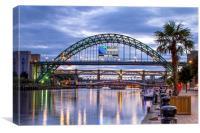 River Tyne Bridges, Canvas Print
