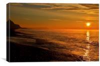 Dorset Sunrise, Canvas Print