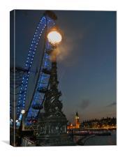 London Eye by Night, Canvas Print