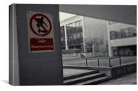 No Skateboarding, Canvas Print