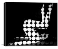 black white spots using projection, Canvas Print