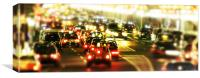 Traffic at night, Canvas Print