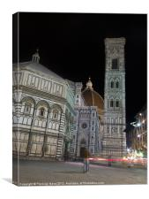Night in Florence, Canvas Print