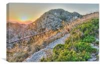 Summer sunset in the Andalusian mountains, Canvas Print