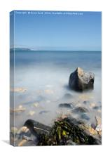 Silver Sands Aberdour Portrait, Canvas Print