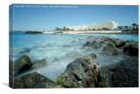 Playa Jablillo beach Costa Teguise , Canvas Print
