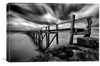 Historic Pier at Culross, Canvas Print