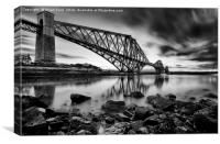 The Rail Bridge Black & White, Canvas Print