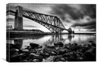 Rail Bridge Long Exposure, Canvas Print