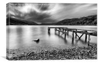 Loch Earn Black & White, Canvas Print