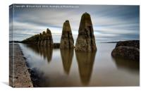 The Causeway at Cramond, Canvas Print