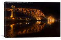 The bridge at night, Canvas Print