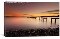 Sunset at Aberdour, Canvas Print