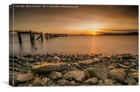 Sunset at Hawkscraig, Canvas Print