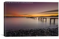 Hawkcraig Sunset, Canvas Print