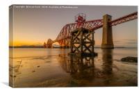 Hawes Pier Sunset, Canvas Print