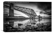 The Bridge Black and White, Canvas Print