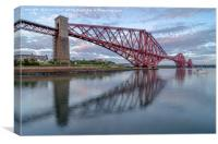 Rail Bridge Reflections, Canvas Print