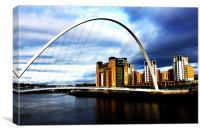 Newcastle bridge, Canvas Print