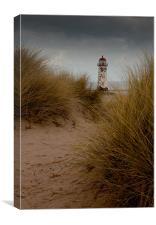 Talacre Beach Lighthouse, Canvas Print