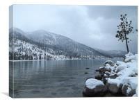 Winter at Lake Tahoe, Canvas Print