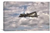 B17 Flying Fortress Sally B, Canvas Print