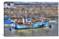 Trawling Along, Canvas Print