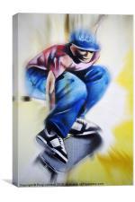 Skateboard King, Canvas Print