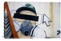 Spray painter, Canvas Print