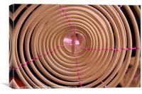 Incense coil, Canvas Print
