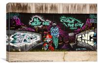 Colour the city, Canvas Print