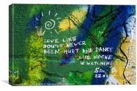 Love like..., Canvas Print