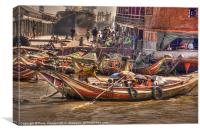 Yangon Port, Canvas Print