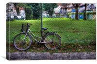 Resting bike, Canvas Print